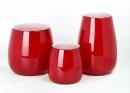 Lambert Pisano Vase groß Überfangglas rot, H 30 cm, D 22 cm 16959
