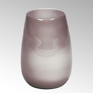 Lambert Pisano Vase groß Überfangglas, malve H30 cm D22 cm 17257