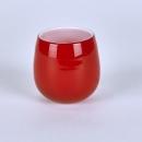 Lambert Pisano Vase / Windlicht Überfangglas, rot H...