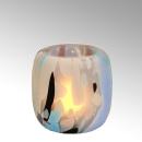 Lambert Monet Windlicht Glas rund bunt -...