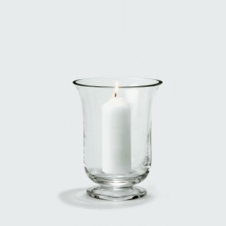 Lambert Mallorca Windlicht klein Glas klar,  H 19 cm, D 15 cm, für Kerze: D 5 cm, L 12 cm 17814