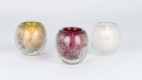 Lambert Salviato Windlicht klein weiß, H 10 cm, D 9 cm, Überfangglas mit Luftblasen 17854
