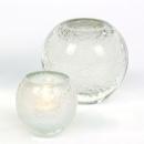 Lambert Salviato Windlicht / Vase weiß, H 12 cm, D 12 cm, Überfangglas mit Luftblasen 17855