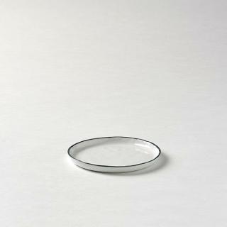 Lambert Piana Teller / Untertasse Porzellan, D 13,5 cm, Dekor Rand weiß / basaltgrau 21380
