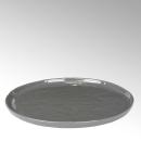 Lambert Piana Teller, rund Stoneware, anthrazit D 27 cm...