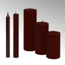 Lambert Kerze rund durchgefärbt dunkelrot, H 25 cm,...