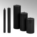 Lambert Kerze rund durchgefärbt schwarz, H 25 cm, D...