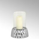 Lambert Crisant Windlicht mit Glas klein Fuß:...