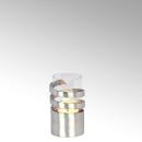 Lambert Spiral Windlicht Aluminium mini matt gebürstet mit Glaseinsatz H16cm D9cm/ Glaseinsatz H11,5cm D7,5cm 40883