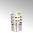 Lambert Spiral Windlicht Aluminium klein matt...