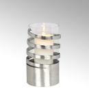Lambert Spiral Windlicht Aluminium mittel matt...