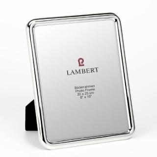 Lambert Atlanta Bilderrahmen für 20 x 25 cm Fotos Messing, versilbert, anlaufgeschützt B 22,5 cm, H 27,5 cm 42261