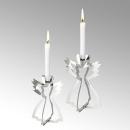 Lambert Serafin Kerzenhalter Engel Stahl stehend groß vernickelt glänzend H14cm T8cm B8cm 46101