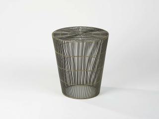 Lambert Thoban Hocker/ Beistelltisch Drahtgeflecht, natur-anthrazit H 47 cm, D 43 cm 50243