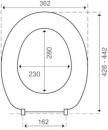 WC-Sitz clivia mit Deckel weiss Scharniere Edelstahl