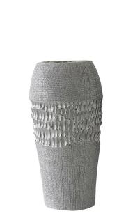 """Gilde Vase """"Splendor"""" silber Länge 9,0 cm Breite 12,0 cm Höhe 24,5 cm 43793"""
