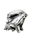 """Gilde Skulptur """"Die Muschel"""" silber Länge 27,0 cm Breite 33,0 cm Höhe 27,0 cm 45086"""