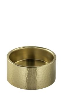 Fink SOBRIO, Stumpenhalter, Edelstahl, goldfarben, Höhe 5 cm, Durchmesser 10 cm 158655