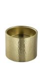 Fink SOBRIO, Stumpenhalter, Edelstahl, goldfarben, Höhe 8 cm, Durchmesser 10 cm 158656