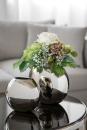 Fink Luna, Vase, vernickelt,  Breite 11,5 cm, Höhe 20 cm, Länge 23 cm,  157088