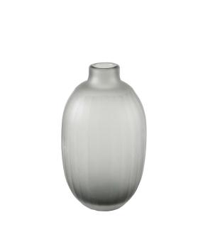 Kaheku Vase Tamura grau matt Schliff, Durchmesser 9 cm, Höhe 15,5 cm  877006305
