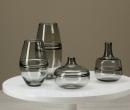 Kaheku Vase Zenika Flasche grau, Durchmesser 16 cm, Höhe 32 cm  1186001905