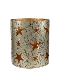 Kaheku Windlicht Loukia Stern gold, Durchmesser 21 cm, Höhe 24 cm  antik  Aluminium 1231000438
