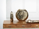 Kaheku Vase Loukia rund antik gold Aluminium 39 cm x 10 cm x 35 cm Höhe  1231001838