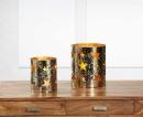 Kaheku Windlicht Loukia Stern gold, Durchmesser  Aluminium 16 cm, Höhe 18 cm  antik  1231000338