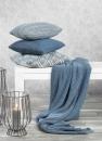 Kaheku Wolldecke Husum blau 125 cm x 150 cm,  100%...