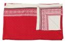 Kaheku Wolldecke Skandi rot 130 cm x 170 cm, 100 % Baumwolle  111007540