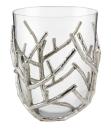 Kaheku Windlicht Isla Zweige Aluminium vernickelt mit Einsatz eines Glaswindlichtes , Höhe 30 cm   99990356