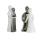 Casablanca Figur Romance Keramik,weiss/silber 2tlg.Set t  Höhe: 12.50 cm  Breite: 5.50 cm 26447