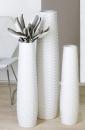 Casablanca Vase Catania Ker.weiß,H.57/D.16cm...