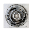 Casablanca Ölbild Circle weiss/grau/silber 80x80cm...