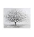 Casablanca Ölbild Big Tree weiss/grau/silber 90x70cm...