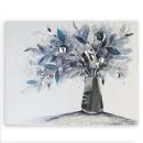 Casablanca Ölbild Vase of Flowers nachtblau 100x80cm...