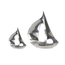 Casablanca Alu Skulptur Boot poliert H.21cm  Höhe:...