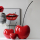 Casablanca Kirsche Passion rot,Keramik H.42cm  Höhe: 42 cm  Breite: 17 cm 36406