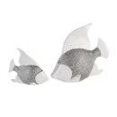 Casablanca Fisch Prime weiss/silber,Keramik H.14cm...