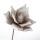 Casablanca Foam Flower Lagarto taupe/weiss 1 Blüte  Höhe: 40 cm  Ø 18 cm 38232