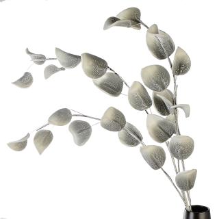 Casablanca Foam Flower Leaves grau/weiss gew. L.110cm  Höhe: 110 cm 38446