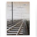 Casablanca 3D Ölbild Railroad mitAluminium 100x150...