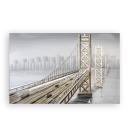 Casablanca 3D Ölbild Bridge mit Aluminium 150x100...
