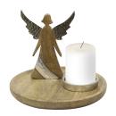 Casablanca Dekoteller/Leuchter Engel  Nobis  D.27cm...
