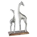 Casablanca Skulptur Giraffen Alu/Mangoholz H.25,5cm...