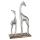 Casablanca Skulptur Giraffen Alu/Mangoholz H.25,5cm  Höhe: 42 cm  Breite: 25.50 cm  Tiefe: 10 cm 43199