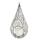 Casablanca Windlicht Twigs antik-silberfarb. H.47cm  Höhe: 47 cm  Ø 25 cm 43203