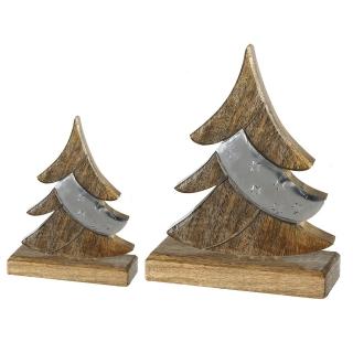 Casablanca Baum Nobis Alu/Mangoholz,Metall H.30cm  Höhe: 30 cm  Breite: 22 cm  Ø 6 cm 43249