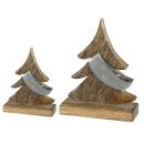 Casablanca Baum Nobis Alu/Mangoholz,Metall H.40cm...